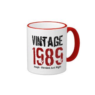 25th Birthday Vintage 1989 or Any Year V01Q Ringer Mug