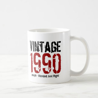 25th Birthday Vintage 1990 or Any Year V01Q1 Mugs
