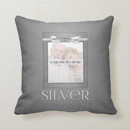 25th Diamond Wedding Annivsersary Photo Cushion