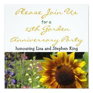 25th Garden Anniversary Party Invitation