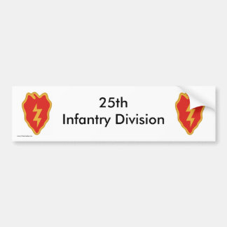 25th Inf Div b-s Bumper Sticker