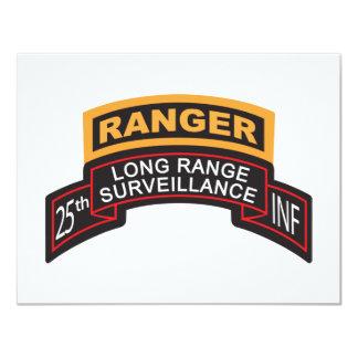 25th Infantry Division LRS Scroll, Ranger Tab 11 Cm X 14 Cm Invitation Card