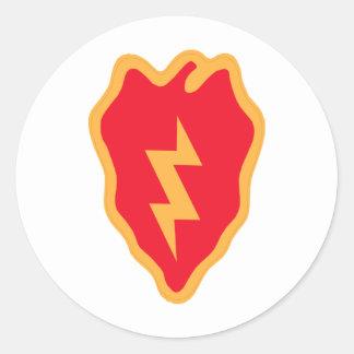 25th Infantry Division Round Sticker
