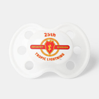 "25TH INFANTRY  DIVISION  ""TROPIC LIGHTNING"" BABY PACIFIER"