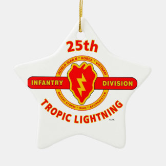 "25TH INFANTRY  DIVISION  ""TROPIC LIGHTNING"" CHRISTMAS ORNAMENT"