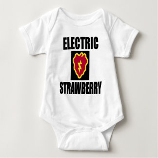 25TH INFANTRY ELECTRIC STRAWBERRY BABY BODYSUIT