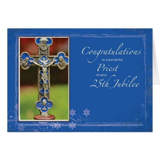 25th Jubilee Priest Cross Card