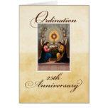 25th Ordination Anniversary Angels at Altar Greeting Card