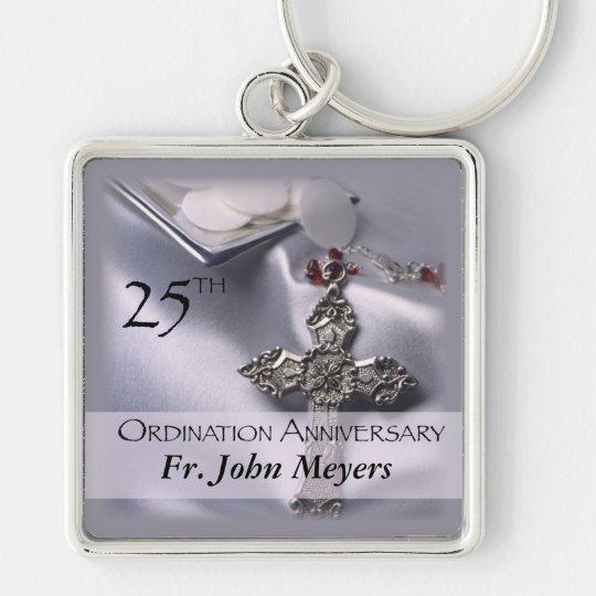 25th Ordination Anniversary Cross Host Key Ring