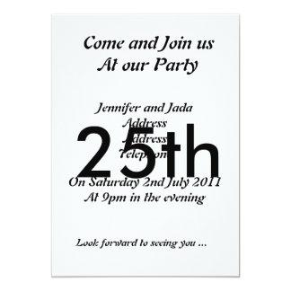 25th Party Invitation