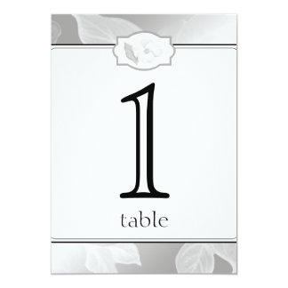 25th Rose Garden Anniversary Table Number Card