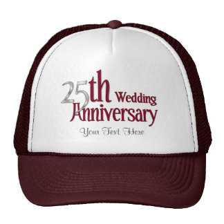 25th Silver and Burgundy Anniversary Cap