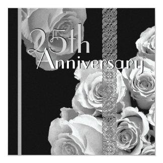 25th Silver Anniversary Invitation - Rose Bouquet