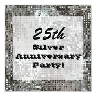 25th Silver Anniversary Party Invitation