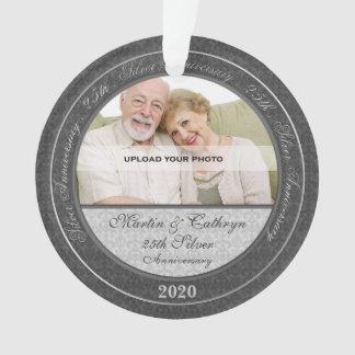 25th Silver Anniversary | Photo Ornament