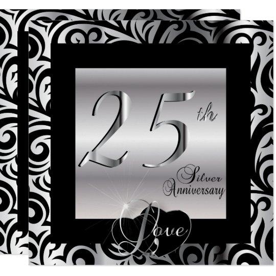 25th Silver Wedding Anniversary Card