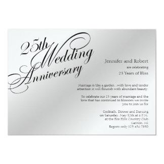 25th Silver Wedding Anniversary Invitation