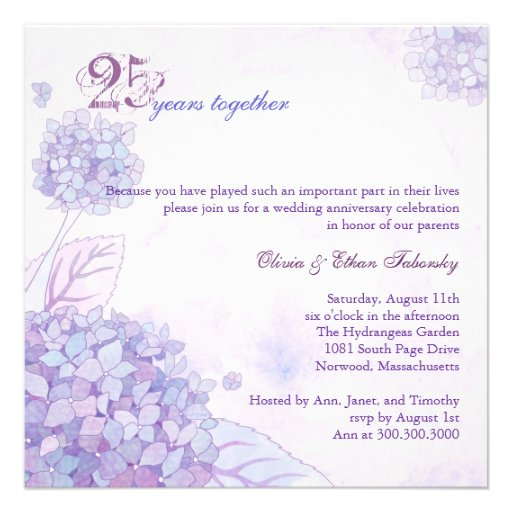 Th silver wedding anniversary party invitations cm