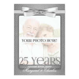 """25th Silver Wedding Anniversary Photo Invitations 5"""" X 7"""" Invitation Card"""