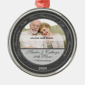 25th Silver Wedding Anniversary | Photo Ornament