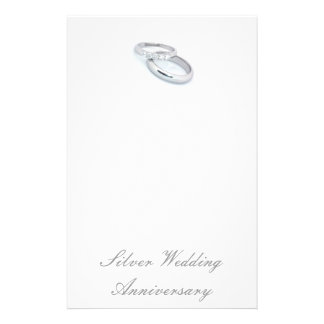 25TH Silver Wedding Anniversary Personalized Stationery