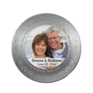 25th Silver wedding with a photo Plate