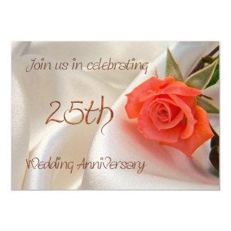 25th wedding anniverary party invitation