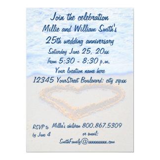 25th Wedding Anniversary 17 Cm X 22 Cm Invitation Card