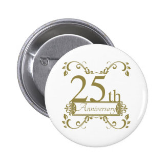 25th Wedding Anniversary 6 Cm Round Badge