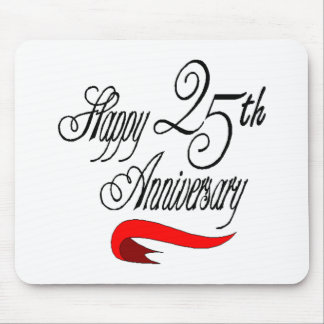 25th wedding anniversary a mouse mat