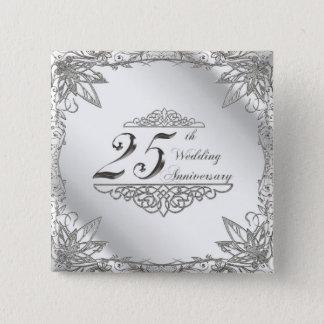 25th Wedding Anniversary Button