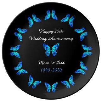 25th Wedding Anniversary by storeman. Plate