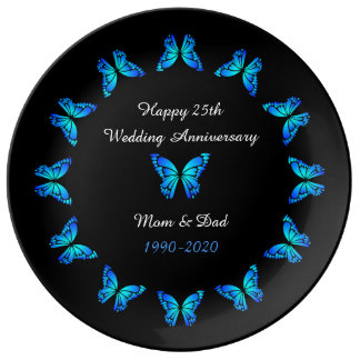 25th Wedding Anniversary by storeman. Porcelain Plate