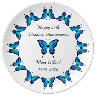 25th Wedding Anniversary by storeman. Porcelain Plates