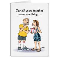 25th Wedding Anniversary Card: Love