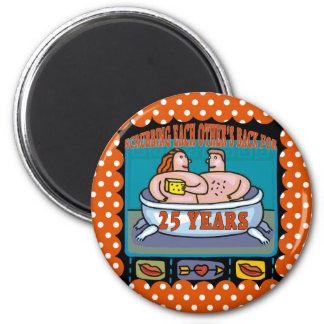 25th Wedding Anniversary Gifts 6 Cm Round Magnet
