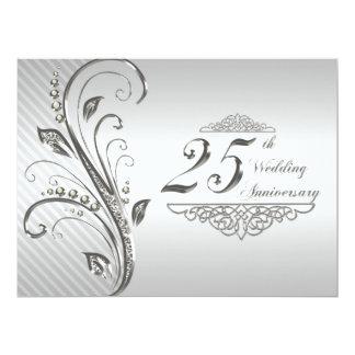 "25th Wedding Anniversary Invitation 6.5"" X 8.75"" Invitation Card"