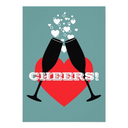 25th Wedding Anniversary Invitation - Cheers!