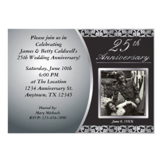 25th Wedding Anniversary Invitations