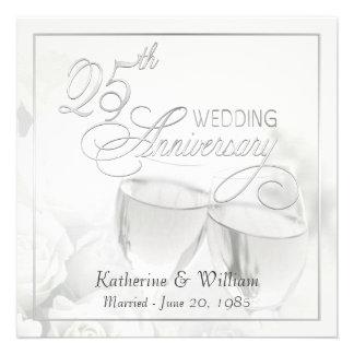 25th Wedding Anniversary Invitations - Square