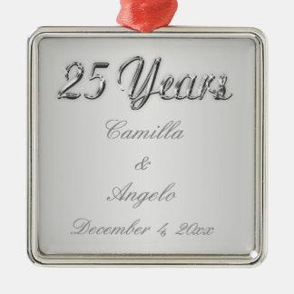 25th Wedding Anniversary Keepsake Ornament
