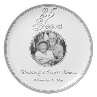 25th Wedding Anniversary Keepsake Plate