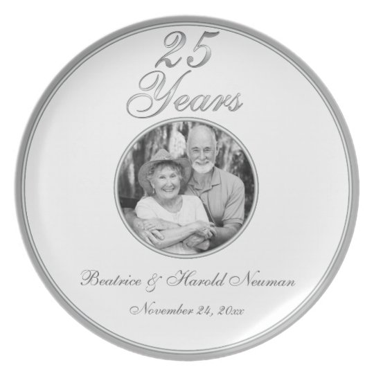 25th Wedding Anniversary Keepsake Plate
