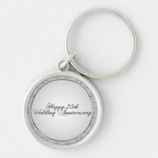 25th Wedding Anniversary Key Chain