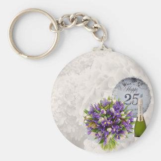 25th Wedding Anniversary Key Ring