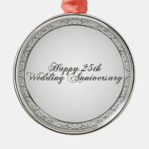 25th Wedding Anniversary Ornament Zazzle