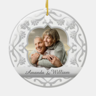 25th wedding anniversary ornament Silver wedding