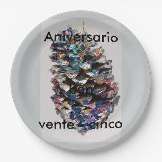 Silver Anniversary Plates