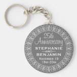 25th Wedding Anniversary Personalised Basic Round Button Key Ring
