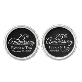 25th Wedding Anniversary Cufflinks